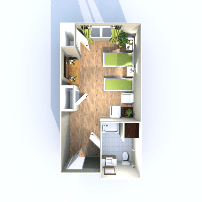 Semi-Private Apartment